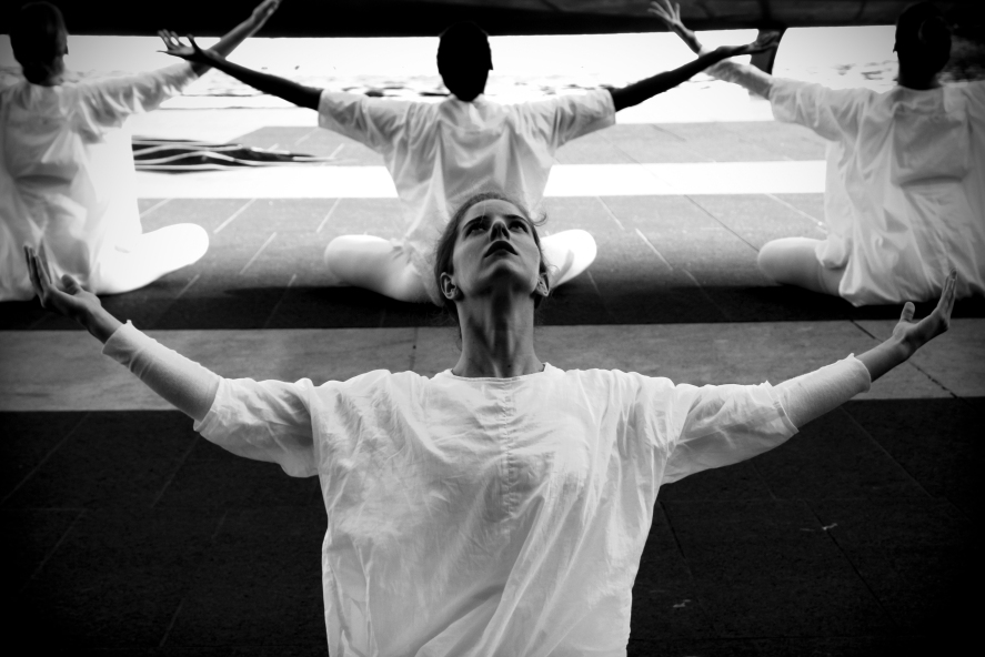 he Table of Silence Project 9/11 - a free public memorial performance by the Buglisi Dance Theatre at Lincoln Center.  New York City.